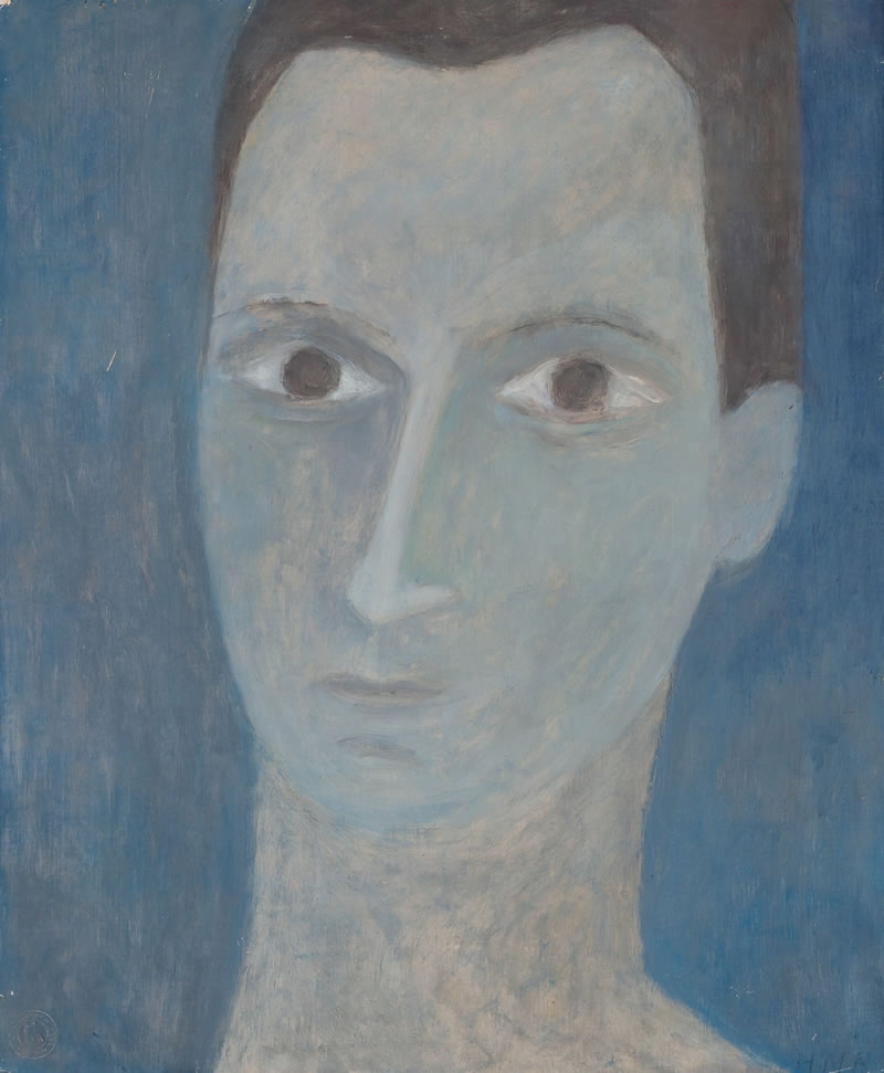 1960 Hans Bollinger, Oil on cardboard, 61 x 50 cm