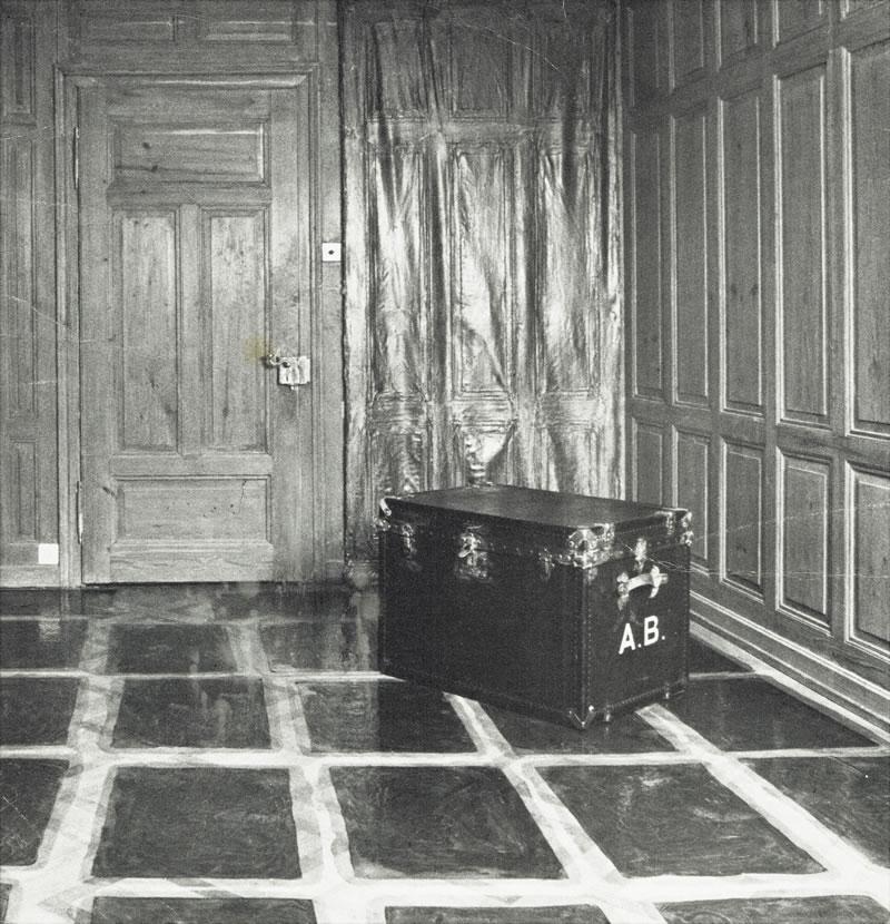 1979 Der Parkettboden des Herrenzimmer in Winterthur - Wülflingen abgegossen in 46 Teilen. ABALONE BUCHER