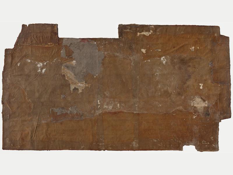 Parquet, Obermühle (Ahnenhaus) 1980 – 1982 Caoutchouc skin, jute, 468 x 260 cm