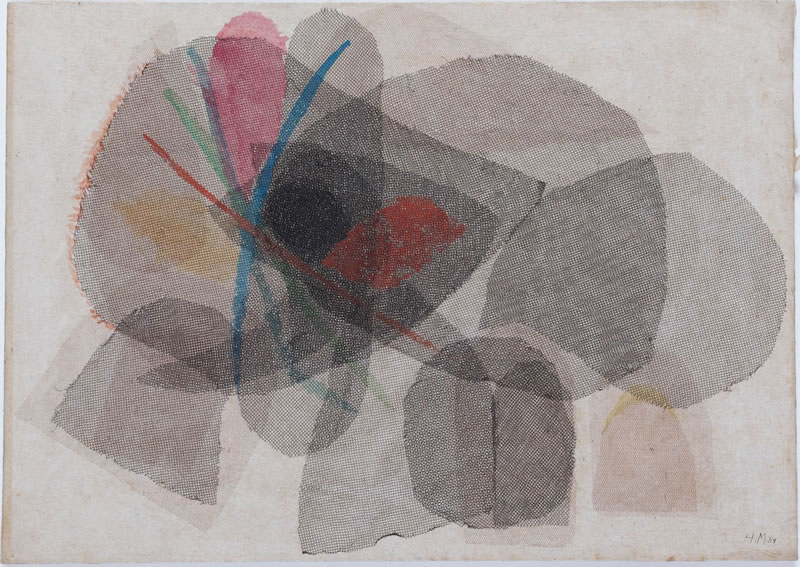 1959 Untitled, Textile collage on cardboard, NY, 31,5 x 44,5 cm