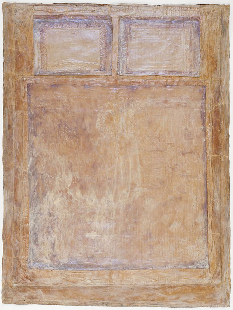 1975 Das Bett 220 x 160 cm Textile, latex, mother-of-pearl pigments