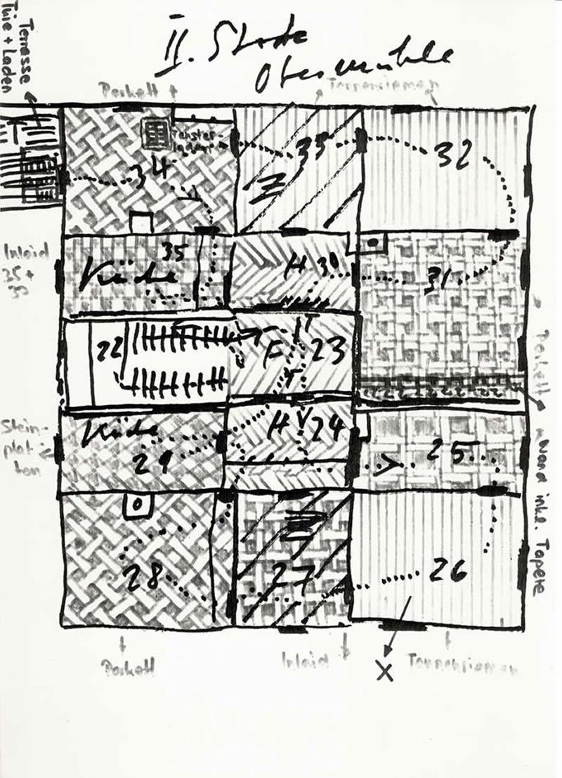 1980 Ahnenhaus sketch for floor