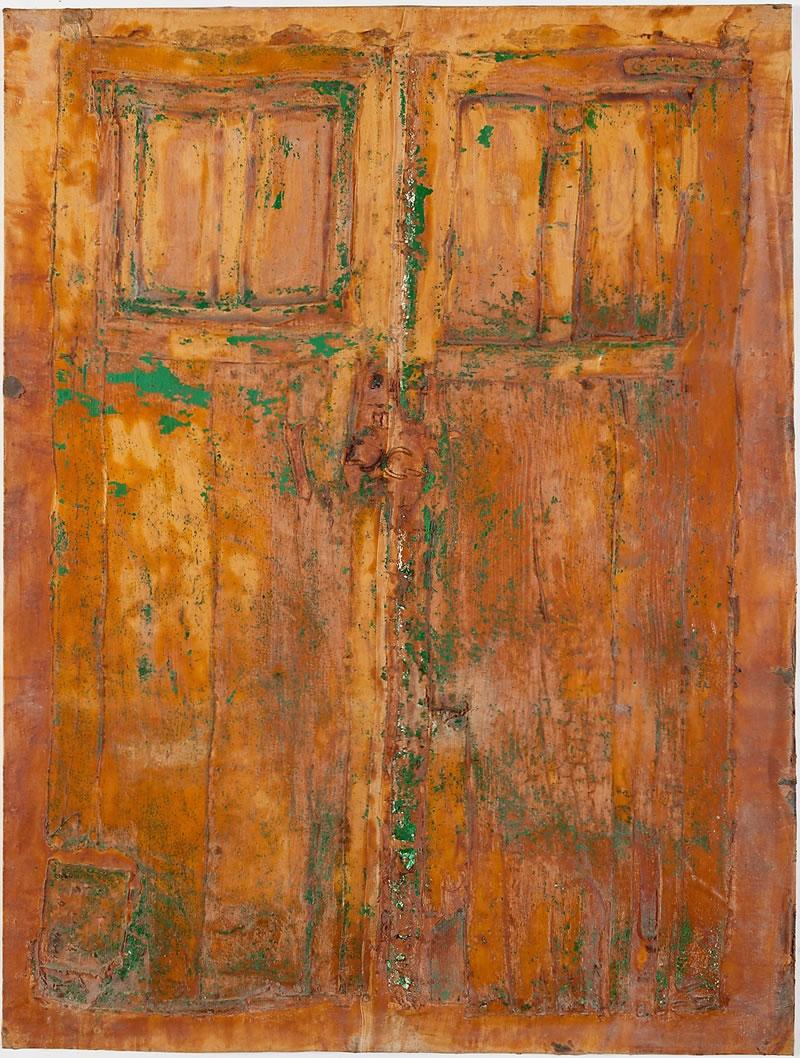 1984 Puerta Marron Grande, Textile and Latex on canvas, Lanzarote, Spain 210x113