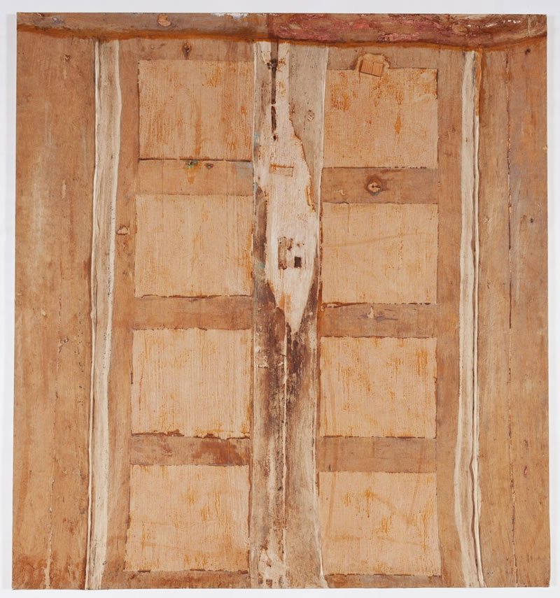 1986 Puerta beige II, Textile and Latex on Canvas, 205 x 190 cm
